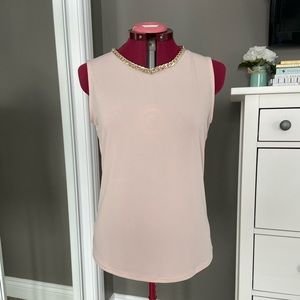 Karl Lagerfeld Blush Sleeveless with Gold Chain
